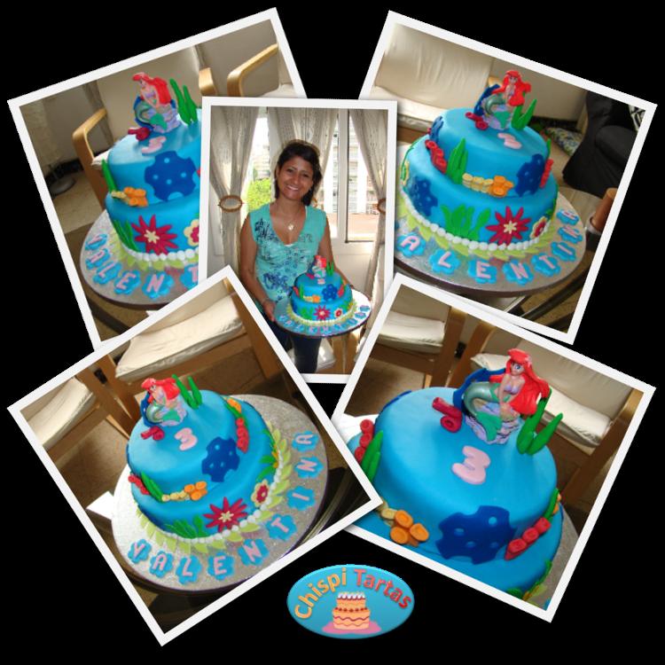 Tarta de la Sirenita para el cumpleaños de Valentina | Tartas ...