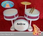 tarta de musica bateria