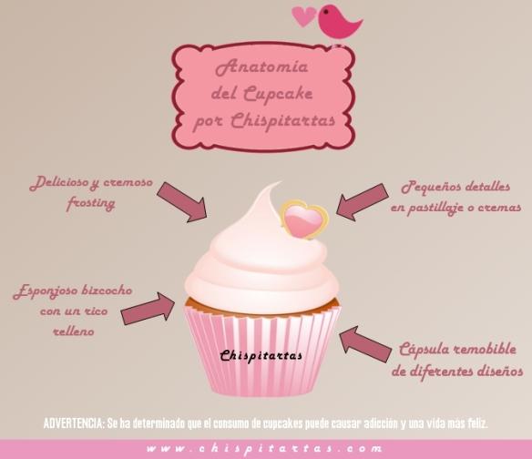 Anatomia de un cupcake