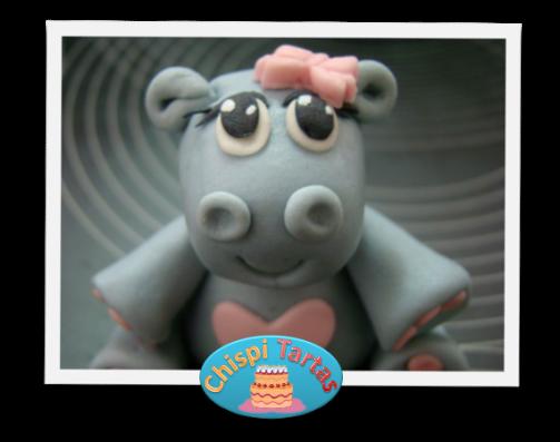 Hipopótamo de fondant