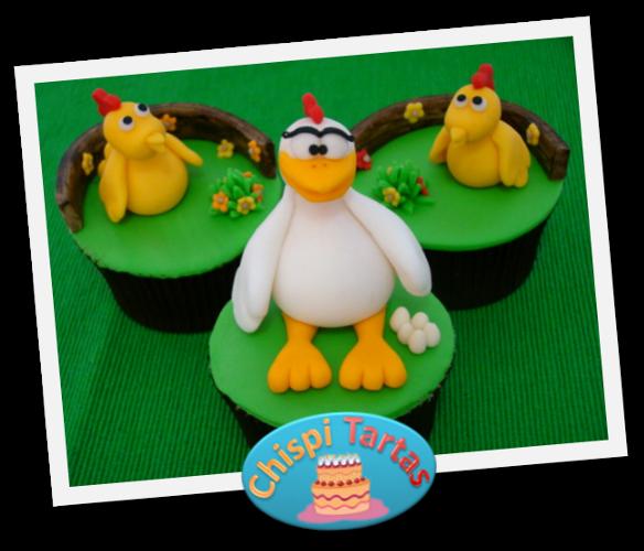 Modelado gallina y pollitos