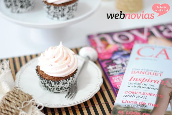receta cupcakes de champán y fresas
