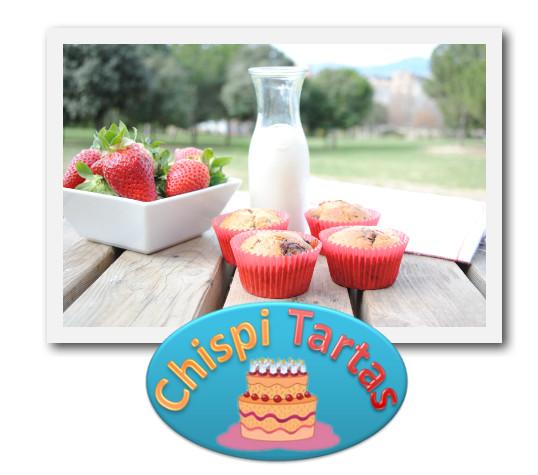 muffins de fresa y chocolate